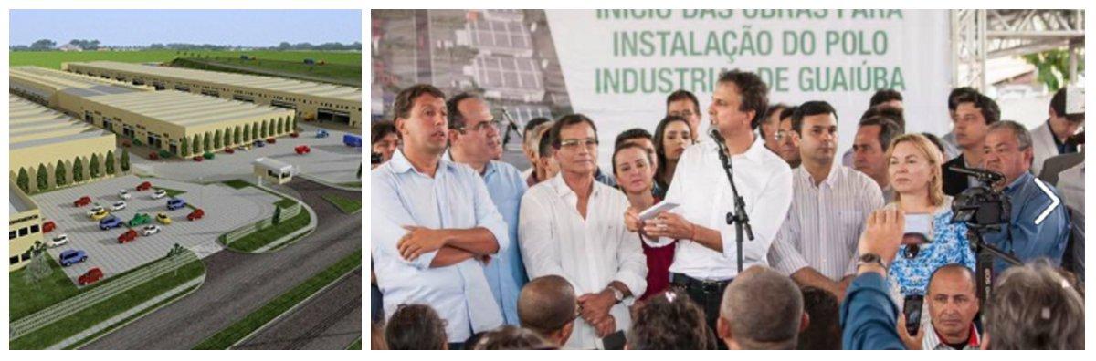 O Pólo Químico Industrial da Guaiuba é uma parceria do Governo do Estado, Sindicato das Indústrias Químicas, Farmacêuticas e da Destilação e Refinação de Petróleo no Estado do Ceará (Sindquímica-CE) e Prefeitura de Guaiuba.O Governo está investindo cerca R4 10,8 milhões em obras de infraestrutura. O grupo Brilux deve investir aproximadamente R$ 56 milhões na instalação da nova fábrica, para produção de água sanitária, amaciante e lava-louça com expectativa de comercializar 3,9 milhões de caixas por ano. Além do parque fabril, a estrutura contemplará um centro logístico responsável por movimentar produtos fabricados no Ceará e em Pernambuco