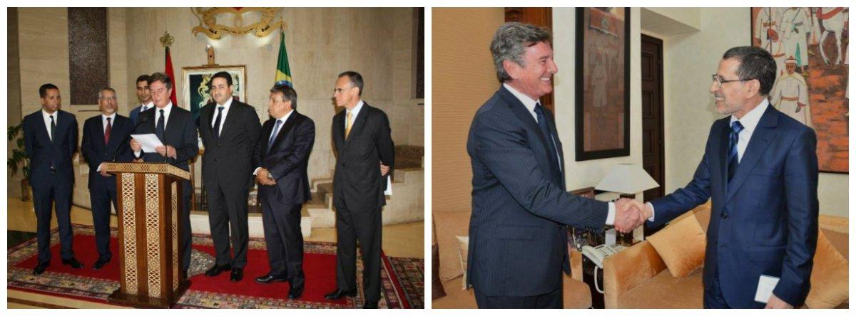 Durante visita de trabalho ao Marrocos, o presidente da Comissão de Relações Exteriores e Defesa Nacional do Senado, Fernando Collor (PTC/AL), tratou de temas relativos ao aprofundamento das relações bilaterais entre o Brasil e aquele país africano, com destaque para os entendimentos referentes à assinatura de acordo entre o Mercosul-Marrocos; o governo marroquino examina data proposta informalmente pelo Brasil para a realização de reunião Mercosul-Marrocos, em Brasília, em setembro