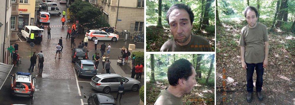 """A polícia da Suíça descartou nesta segunda-feira que o ataque com uma motosserra que deixou cinco pessoas feridas na cidade de Schaffhouse, perto da fronteira com a Alemanha, tenha sido um ato terrorista; o ataque aconteceu no meio da manhã quando um homem portando uma motosserra entrou em um edifício de escritórios e atacou cinco pessoas; as autoridades já identificaram o agressor, que fugiu conduzindo um carro registrado no cantão de Grisones; o suspeito foi classificado como """"perigoso"""" pela polícia"""