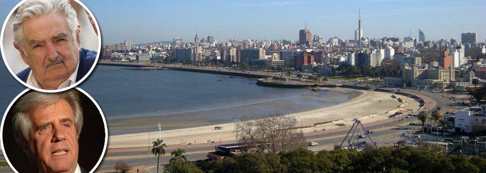 Enquanto Argentina e Brasil lidam com crises política e econômica, o Uruguai se mostra uma ilha de tranquilidade na América do Sul; estabilidade econômica, política e fiscal, aliadas à distribuição de renda, fizeram o Uruguai obter 15 anos de crescimento econômico ininterrupto