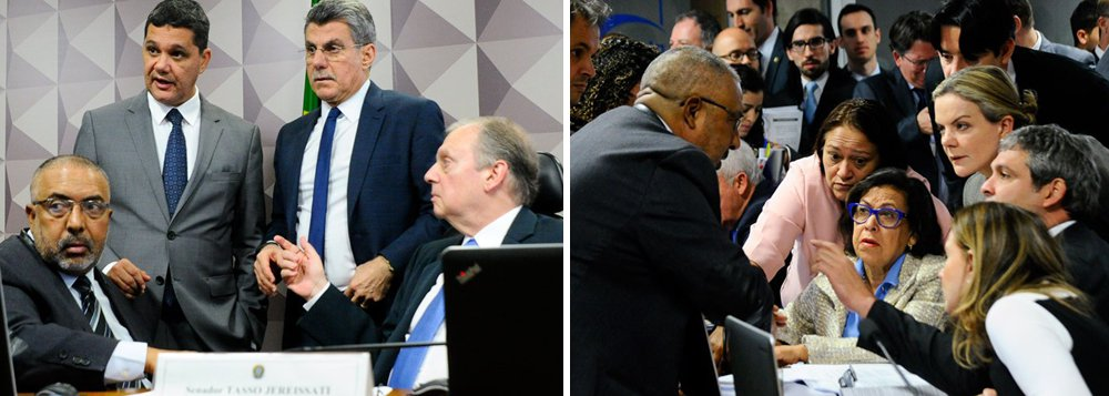 O presidente da Comissão de Assuntos Econômicos (CAE), Tasso Jereissati (PSDB-CE), o líder do governo Romero Jucá (PMDB-RR), o relator do projeto, Ricardo Ferraço (PSDB-ES), e o senador Paulo Paim (PT-RS) costuraram o entendimento, que prevê a discussão da proposta nesta terça e a votação na próxima reunião que deve ocorrer no dia 6; Paim deve apresentar um voto em separado na próxima sessão