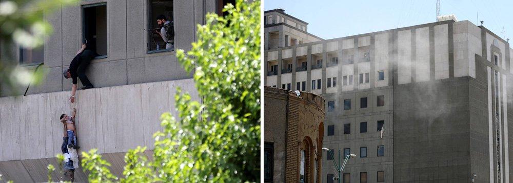 """Terroristas invadiram o Parlamento do Irã e um suicida detonou uma bomba no mausoléu do aiatolá Khomeini, em Teerã, nesta quarta-feira, deixando ao menos 7 mortos em um ataque duplo no coração da República Islâmica, informou a mídia iraniana; Ministério de Inteligência iraniano disse que as forças de segurança ainda prenderam uma """"equipe terrorista"""" que estaria planejando um terceiro ataque, sem dar mais detalhes; Estado Islâmico reivindicou responsabilidade pelos ataques em comunicado; se confirmado, esses seriam os primeiros ataques do grupo muçulmano sunita dentro do país muçulmano xiita"""