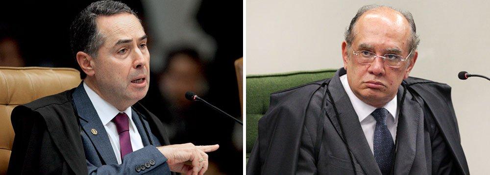 """O ministro Luís Roberto Barroso se irritou na sessão desta quinta-feira 22 durante o julgamento que discute os limites de atuação do relator na homologação de acordos de delação premiada celebrados com o Ministério Público, como o da JBS; Barroso já havia votado para manter o ministro Edson Fachin como relator e para que não haja revisão ou interferência nas regras atuais; num embate com Gilmar Mendes, que discordava dele, disse: """"Todo mundo sabe o que se quer fazer lá na frente. Eu não quero""""; Gilmar retrucou, pedindo """"respeito ao voto dos colegas""""; delações da JBS atingem diretamente Michel Temer e o senador afastado Aécio Neves (PSDB-MG)"""