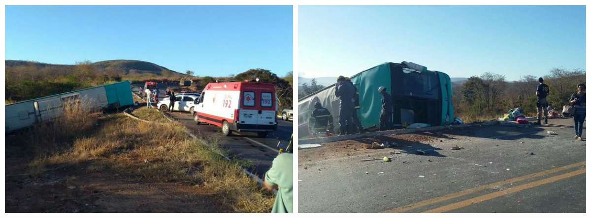 Acidente de ônibus em Salinas (MG) deixa ao menos dez mortos .2