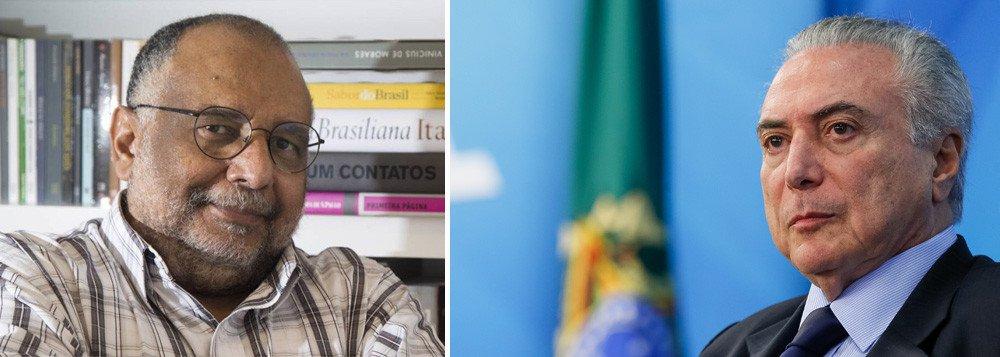 """Colunista do Globo Jorge Bastos Moreno afirma que, """"a esta altura"""", o gesto de Temer, que depois de negar, acabou reconhecendo ter voado em uma aeronave do empresário Joesley Batista, """"só seria louvável se também devolvesse em dinheiro do seu bolso os custos dessa viagem"""""""