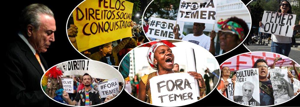 Pesquisa realizada pela Ipsos e divulgada nesta terça-feira (25) mostra que a reprovação do presidente Michel Temer (PMDB) continua crescendo e agora chega a 94%; além disso, em julho, a avaliação do governo federal chegou ao seu pior nível desde 2003; segundo a pesquisa Pulso Brasil, 95% dos entrevistados acreditam que o país está no rumo errado