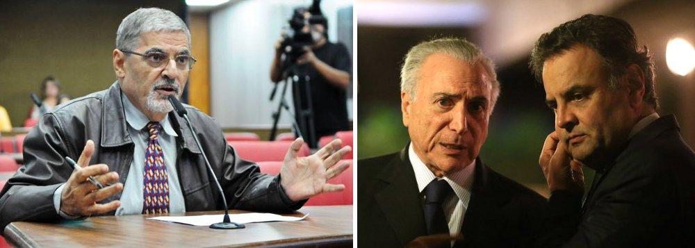 Diretório estadual do PSDB de São Paulo marcou para o próximo dia 5 uma reunião que deve terminar em uma solicitação para que a legenda entregue os cargos que ocupa no governo Michel Temer. Reunião do diretório paulista acontece na véspera do julgamento do processo de cassação da chapa Dilma Rousseff-Michel Temer pelo Tribunal Superior Eleitoral (TSE); diretório também deve defender a expulsão do senador afastado Aécio Neves (MG) do partido tucano; na semana passada, a cúpula do PSDB – incluindo o governador Geraldo Alckmin – defendeu a permanência do PSDB no governo Temer