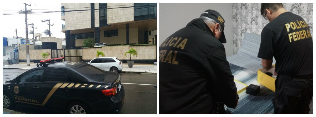 """Policiais federais cumprem mandados de busca apreensão e de sequestro de bens nas cidades de Maceió, Santana do Ipanema, Marechal Deodoro e Pão de Açúcar, em Alagoas; chamada de """"Operação ASTAROTH"""", a ação também acontece em Pernambuco e no Maranhão; policiais buscam provas de uma organização que teria desviado R$ 6 milhões da prefeitura de Marechal Deodoro; um dos alvos é o ex-prefeito de Marechal Deodoro, Cristiano Mateus (PMDB); veja vídeos"""