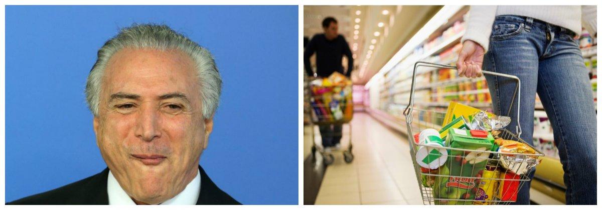 Michel Temer, compras, inflação .2