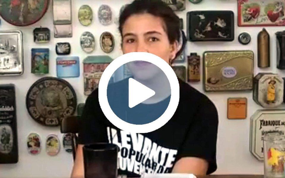 """Militante do Levante Popular da Juventude, Nátaly lembra que """"todo mundo quer"""" que Michel Temer saia porque, além de estar ocupando o cargo de forma ilegítima, seu governo """"representa um retrocesso""""; """"Ele está cada vez mais sujo, ilegítimo"""", afirma em entrevista à TV 247; para ela, a Globo é influente, mas não a """"dona da verdade"""", e """"tem se colocado de acordo com a conjuntura""""; assista a íntegra"""
