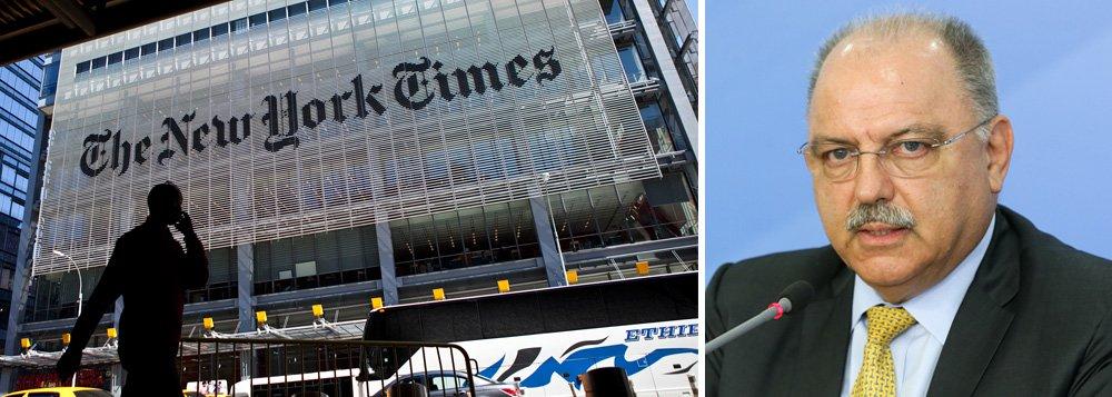 """Reportagem do The New York Times faz uma gozação com o fato de o ministro-chefe do Gabinete de Segurança Institucional, General Sérgio Etchegoyen, ter revelado, em sua agenda, que o chefe do posto de espionagem da CIA no Brasil é Duyane Norman; os correspondentes do jornal advertem: """"Os oficiais de inteligência que gostariam de ser escalados para o Brasil tomem nota: um simples encontro com a hierarquia de espionagem daquele país pode tirar sua cobertura"""""""