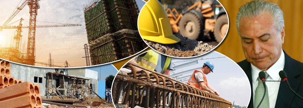 Recessão econômica agravada pelos políticos interessados em retirar a presidente eleita Dilma Rousseff por meio de um golpe parlamentar e a crise decorrente da Operação Lava Jato derrubarama geração de riquezas do setor de construção civil pelo segundo ano seguido, em 2015; segundo o IBGE, o setor encolheu 9,6% em 2014, ano em que a Lava-Jato foi deflagrada, e 7,8% em 2015, ano em que a recessão se agravou; queda de receitas chegou a R$ 14,6 bilhões, encolhendo para R$ 172,61 bilhões