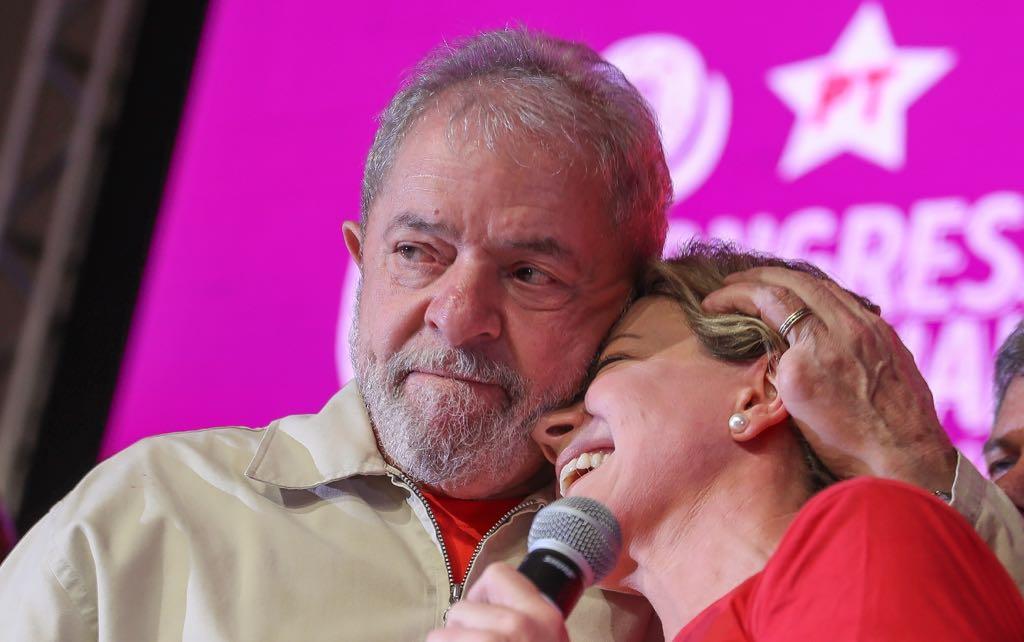 Gleisi e Lula