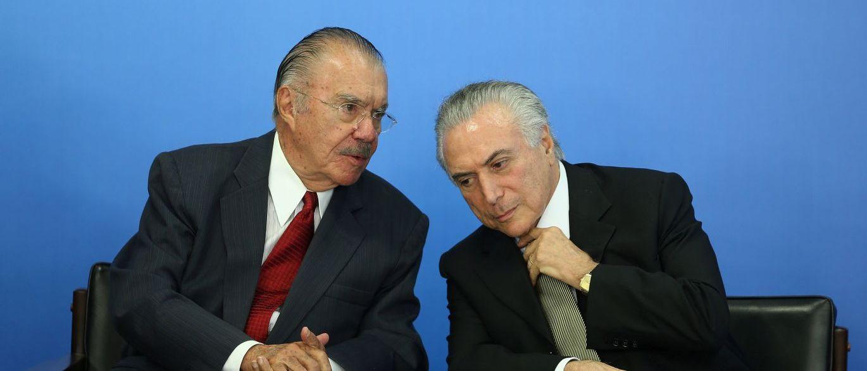 José Sarney e Michel Temer