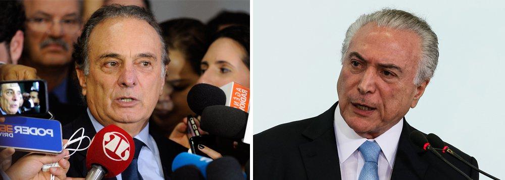 """De um lado, os chamados """"cabeças pretas"""", parlamentares tucanos mais jovens, defendem o desembarque da legenda do governo Temer, imerso em escândalos de corrupção; de outro, caciques como Geraldo Alckmin e Aloysio Nunes querem afundar junto com Temer; plenária para decidir o destino da legenda aconteceria nesta quinta-feira 8 em Brasília, mas foi adiada para segunda, ajustando o relógio com o julgamento do TSE; para o líder do PSDB na Câmara, Ricardo Tripoli (SP), """"nem Mãe Dinah adivinharia o resultado"""""""