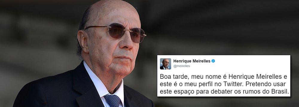 """""""Talvez fosse mais sincero escrever assim a frase de estréia do Ministro Henrique Meirelles no twitter, porque outra não é a intenção do ex-atual-futuro-eterno Ministro da Fazenda do Brasil"""", diz o jornalista Fernando Brito, do Tijolaço; """"Aliás, melhor ainda seria dizer 'continuar a mandar', porque o Brasil que lhe importa – o das finanças, o dos ricos, o da colônia – é o seu 'eleitorado"""", afirma"""