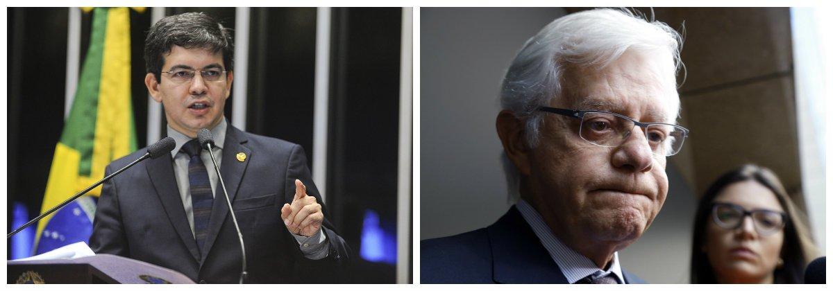 Senador Randolfe Rodrigues (Rede) e Moreira Franco.2