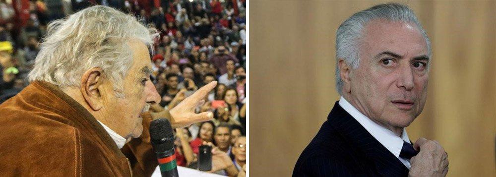 """Em entrevista à BBC, o ex-presidente uruguaio José """"Pepe"""" Mujica afirma que o atual cenário político """"gera a imagem de um Brasil muito doente""""e lamenta a manobra feita para salvar Michel Temer da denúncia de corrupção passiva oferecida à Câmara pela Procuradoria-Geral da República;""""Me dá pena. Pena pelo Brasil por ver o que aconteceu com uma comissão que estava estudando as eventuais acusações, em que tiveram que mudar a composição dessa comissão. E tudo indica que houve muita influência para poder colocar gente que não decepcionasse o governo"""", disse;ele afirma não acreditar em """"nenhuma"""" nas acusações contra Lula e diz que as reformas do governo Temer representam """"mais de 50 anos de atraso"""""""
