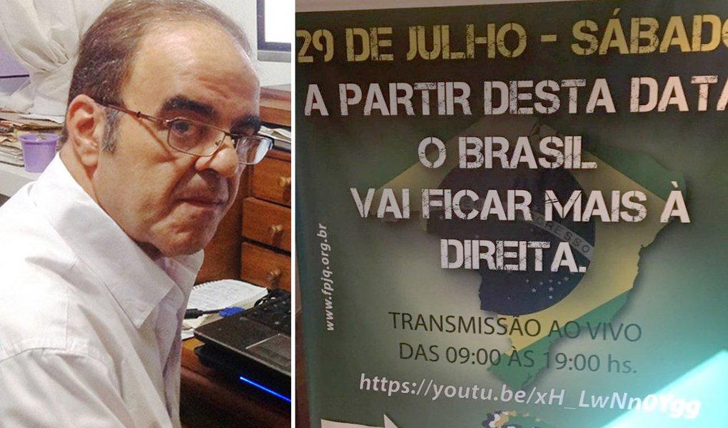"""Jornalista Marcelo Auler diz que os efeitos do golpe de 2016 que entregou a República a uma trupe encalacradas com denúncias criminais, que promove o desmonte das políticas sociais e a venda de ativos importantes do país, fez a chamada direita se achar; ele cita como exemplo o I Fórum Nacional da Direita e Conservadorismo do Brasil, que ocorreu em São Paulo, nesse sábado; """"encontro, sem dúvida, resulta da maciça campanha contra partidos de esquerda, em especial o PT, promovida a partir da Operação Lava Jato, com o apoio da mídia tradicional"""", afirma"""