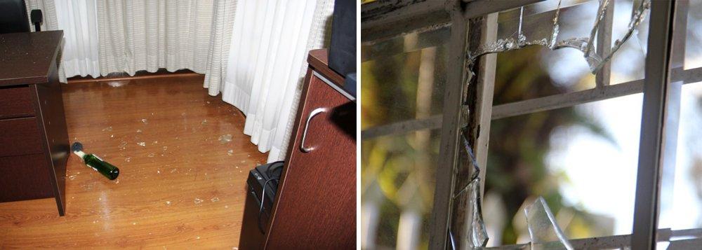 """O PT do Paraná, presidido porDoutor Rosinha,informou, em nota, que, por volta das 4h20 da madrugada desta quinta-feira (25), """"duas pessoas encapuzadas atiraram bombas de coquetéis molotov"""" na sede do Diretório Estadual do partido, em Curitiba; """"É o quarto atentado contra o PT-PR e funcionários da sede desde março do ano passado"""", aponta o texto;a polícia ainda não identificou os criminosos"""