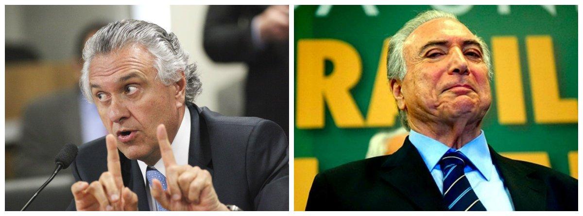 Ronaldo Caiado e Michel Temer .1