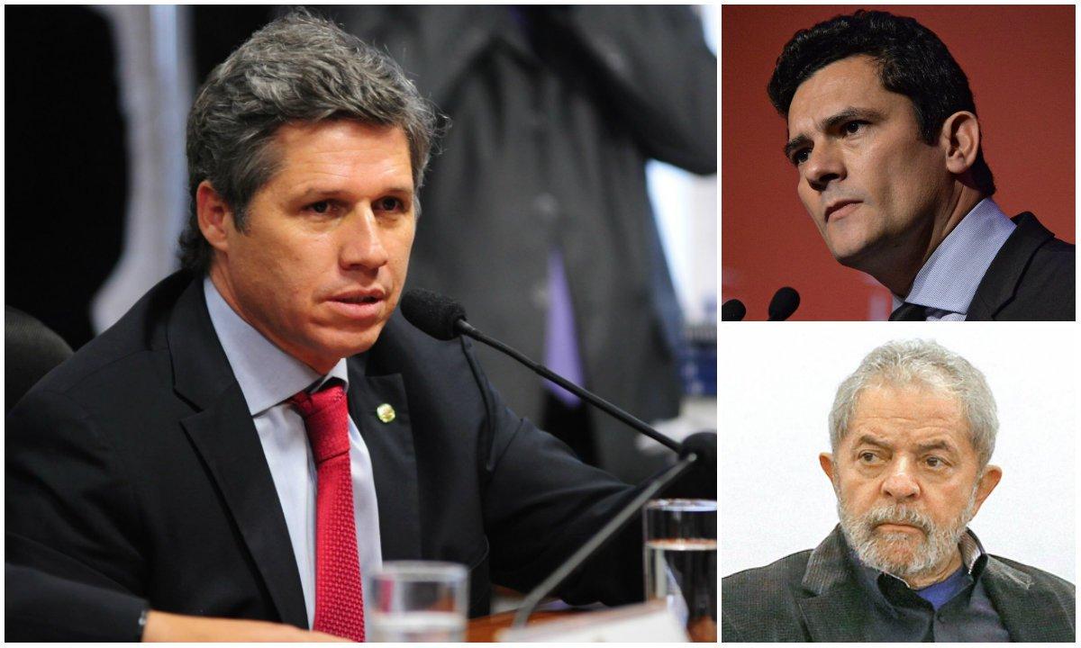"""Deputado diz que juiz """"tomou lado"""" e """"se despiu do papel de juiz"""" ao dizer ao ex-presidente, durante o depoimento desta quarta-feira 10, que blogs apoiadores de Lula também o atacam; """"Ele não nega veementemente os vazamentos à imprensa, e não só isso, ele rebate, ele entra na disputa com Lula. Quando diz 'os blogs também me combatem', ele reconhece ter um lado. E isso explica para mim inclusive a prisão do blogueiro Eduardo Guimarães. Ou seja, 'quem me bate, eu prendo'"""", explica o parlamentar; para Paulo Teixeira (PT-SP), Moro demonstrou ontem """"mais uma vez sua parcialidade e tem que ser impedido"""" de julgar Lula"""