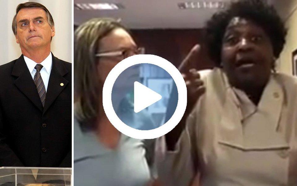 """""""É inadmissível que um deputado federal que foi eleito pelo estão do Rio de Janeiro venha dizer que nós negros não servimos nem para procriação, que ele encontrou nos quilombolas um sujeito que tinham não sei quantas arrobas. É desse jeito que um deputado federal, falando para uma comunidade judaica, que tem um histórico de discriminação, de genocídio, uma insanidade dessa"""", disse a deputada Benedita da Silva (PT-RJ) em vídeo; ela e deputados do PT protocolaram na PGR pedido de investigação contra o deputado Jair Bolsonaro (PSC-RJ) elo crime de racismo"""