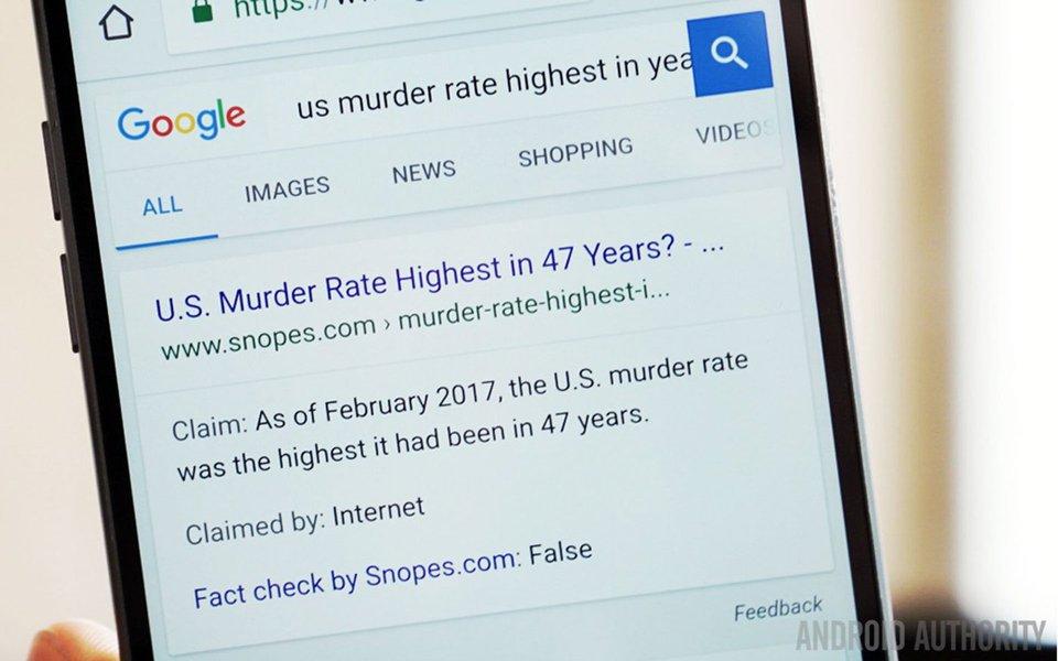 Fat Check, ferramenta do Google utilizado para checar a veracidade de notícias, que foi lançado no Brasil há cerca de dois meses, passará a integrar o buscador da empresa; ferramenta, que funcionava somente em países selecionados e no âmbito do Google News, agora está disponível em todos os idiomas, além do buscador