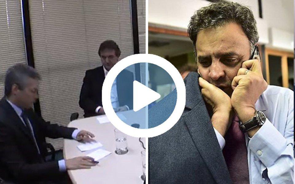 """Empresário Joesley Batista, dono da JBS, disseca a personalidade do senador afastado Aécio Neves (PSDB); em 2016, Batista chegou a pedir para um emissário de Aécio que 'pelo amor de Deus ele parasse de pedir dinheiro'; """"Em 2016, um dia na casa dele ele me pediu 5 milhões e eu não dei. Logo depois começou (sic) as investigações contra mim e eu chamei aquele amigo dele, Flávio, e pedi pro Flávio para pedir a ele para, pelo amor de Deus, parar de me pedir dinheiro"""", disse; assista acima"""