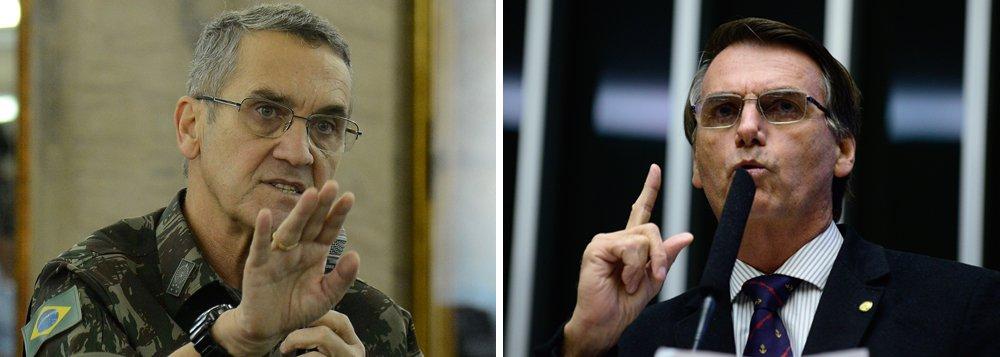 """""""Nitidamente, há um cansaço em relação ao politicamente correto. O perigo é quando surge um líder falando coisas politicamente incorretíssimas, mas que correspondem ao inconformismo das pessoas"""", diz o comandante do Exército, general Eduardo Dias da Costa Villas Bôas; """"Tivemos Donald Trump nos Estados Unidos e temos alguns aqui no nosso país"""", acrescentou, destacando que o Exército não apoia Jair Bolsonaro à presidência"""