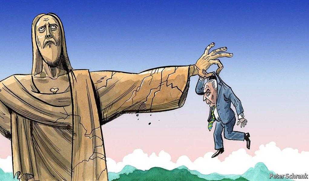 A revista britânica The Economist, que apoiou o golpe parlamentar de 2016 contra a presidente Dilma Rousseff, agora diz que Michel Temer está pendurado; segundo a publicação,as acusações que pesam contra ele são muito mais graves do que as que havia contra Dilma