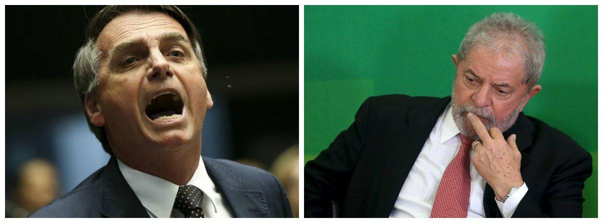 Deputado federal Jair Bolsonaro (PSC) e ex-presidente Luiz Inácio Lula da Silva .2