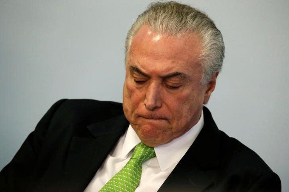 Presidente Michel Temer durante cerimônia no Palácio do Planalto, em Brasília 05/06/2017 REUTERS/Ueslei Marcelino