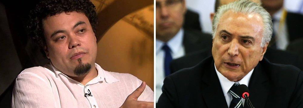 """O jornalista Leonardo Sakamoto questiona como é possível que Michel Temer, que tem apenas 3% de aprovação, segundo pesquisa Ibope divulgada nessa quinta-feira, 28, ainda ocupe o Palácio do Planalto; """"Quando instituições estão esgarçadas e desacreditadas, a melhor maneira de reestabelecer o equilíbrio seria devolver ao povo o direito de escolher diretamente um novo mandatário para governá-lo"""", diz o jornalista; """"Ao que tudo indica, isso não deve acontecer, por falta de consenso político, por falta de melhor opção, por falta de mobilização e projetos alternativos, por muitos terem perdido a fé no país, por um grupo menor 3%, mas poderoso, estar ganhando muito com tudo isso. Manter Temer vivo por aparelhos pode nos custar nossa já pálida democracia"""""""