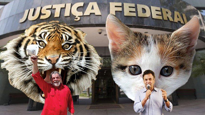 Não é novidade o tratamento que a mídia e a Justiça dão para petistas em geral em comparação com o que dão para tucanos em geral, mas a comparação entre os casos de Lula e Aécio ultrapassa todos os limites do razoável