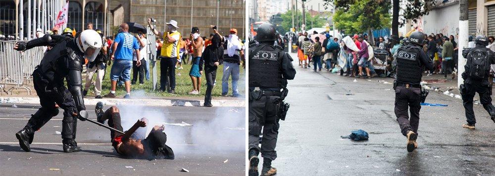 """Alto Comissariado das Nações Unidas para os Direitos Humanos, por meio do seu Escritório Regional para América do Sul, condenou o que chamou de uso """"excessivo da força por parte da Polícia Militar para reprimir protestos e manifestações no Brasil"""", em referência ao aparato utilizado para reprimir a manifestação da última quarta-feira (24) em Brasília, quando mais de 45 pessoas ficaram feridas, uma delas atingida por um disparo de arma de fogo; entidade criticou, ainda, a ação realizada no domingo (221), na Cracolândia, em São Paulo; ONU também teceu duras críticas a violência policial em ações urbanas e em conflitos agrários; segundo a entidade, existe uma """"profunda preocupação pelo uso excessivo da força por parte das forças de segurança do Estado brasileiro"""""""