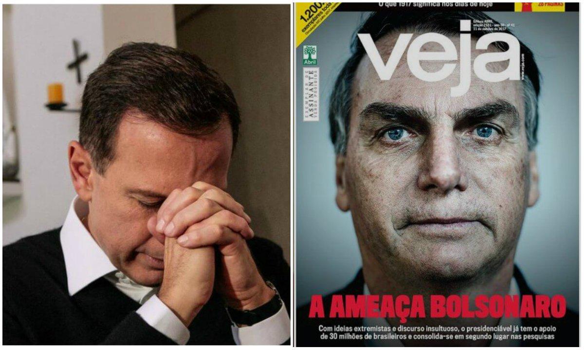 """Segunda a Veja, o """"bunda-suja"""" Jair Bolsonaro (PSC) já atrapalha o projeto de candidatura da burguesia.Nesta edição, a revista dispara contra ele por almejar uma """"coligação"""" com os tucanos.A pergunta que fica é: ele vai afrouxar para a Veja?"""