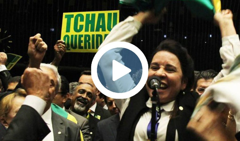Vídeo editado pelo PT, partido da então presidente Dilma Rousseff, que foi deposta por um golpe parlamentar há exatamente um ano, mostra a dedicação do voto de dezenas de deputados - em nome de um novo Brasil, contra a corrupção, pela família e por Deus - que posteriormente votaram a favor de medidas que retiram direitos dos trabalhadores, como a PEC do Teto dos Gastos e o projeto da terceirização