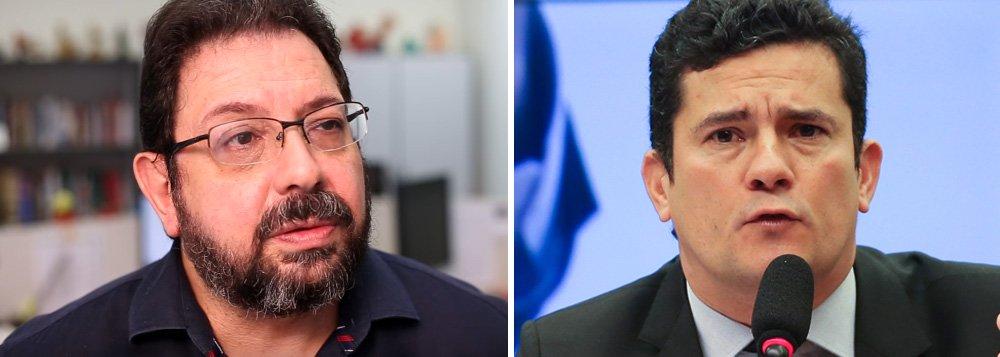 """Eduardo Guimarães, do Blog da Cidadania, diz ter ficado """"indignado"""" com a entrevista do juiz Sergio Moro à Globo, em que ele diz que expõe seus alvos na mídia porque seriam todos """"poderosos"""" e só expondo-os """"INDEPENDENTEMENTE DE TEREM CULPA"""" pode combatê-los; """"Sou uma das vítimas inocentes desse juiz e lembro a ele que juiz não é polícia ou promotor. Julga culpa e inocência. E nos autos, não na mídia"""", rebate o blogueiro, que divulgou um vídeo com a resposta; assista"""