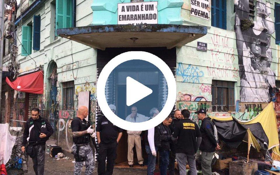 Prefeitura paulistana e o governo do estado deflagraram hoje (21) uma grande operação policial na região da Cracolândia para combater o tráfico de drogas; Polícia Militar e a Secretaria de Segurança Pública ainda não deram informações sobre número de prisões, de feridos e como transcorreu a ação