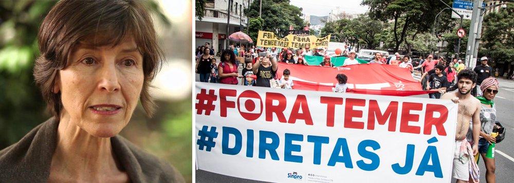 """Em entrevista à Rádio Brasil Atual, psicanalista diz que a presidente legítima Dilma Rousseff """"foi vítima da própria base de apoio"""" e avaliou a passividade do brasileiro diante dos retrocessos do governo de Michel Temer; """"Não sei se as pessoas estão passivas ou anestesiadas, a impressão que tenho na rua é que as pessoas estão furiosas com todas as perdas de direitos, com a crise econômica e as saídas impopulares do governo Temer. Mas estão um pouco sem opção por enquanto"""", destaca. """"Durante um tempo as pessoas ficam paralisadas, mas espero que isso não dure muito"""""""