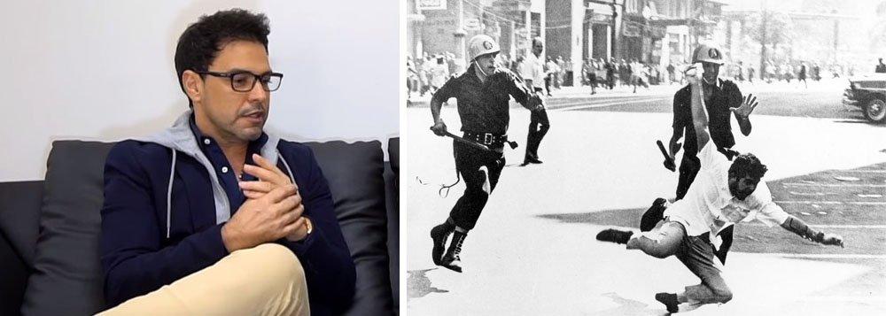 """""""Os militares implementaram uma das mais sanguinárias ditaduras do mundo, caro Zezé. Perseguiram e mataram seus opositores políticos — como o Deputado Rubens Paiva, preso e morto nos porões da Ditadura — jornalistas como Wladimir Herzog, preso e morto nos porões da ditadura, artistas presos, torturados, banidos do país e muitos assassinados, também nos porões da Ditadura"""", diz Ernesto José de Carvalho"""
