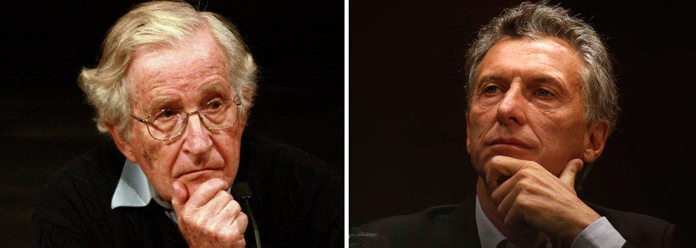 O neoliberalismo tardio de Maurício Macri, que vem produzindo uma tragédia econômica na Argentina, com aumento explosivo da pobreza, mereceu uma nota internacional de repúdio, num manifesto assinado por vários intelectuais e com personalidades como Noam Chomsky; confira a íntegra