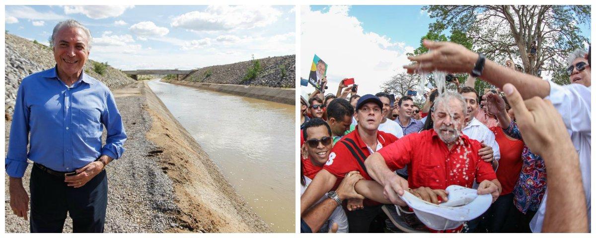 Michel Temer e Lula inauguram Eixo Leste da Trannsposição, em Monteiro (PB) .2