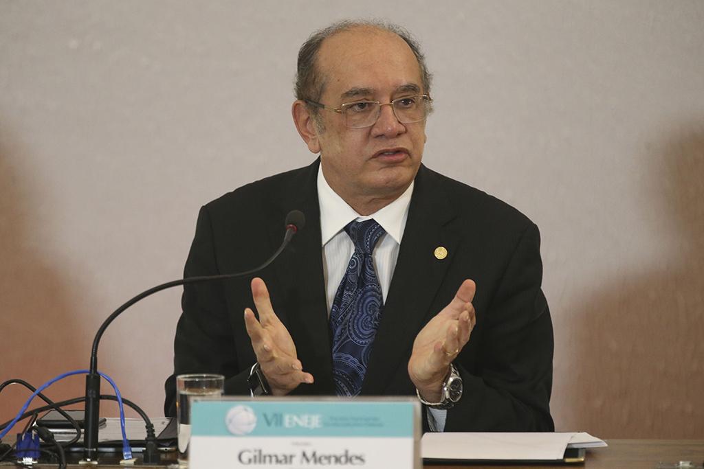 Brasília - O presidente do Tribunal Superior Eleitoral (TSE), Gilmar Mendes, abre o 7º Encontro Nacional das Escolas Judiciárias Eleitorais.(Antonio Cruz/Agência Brasil)