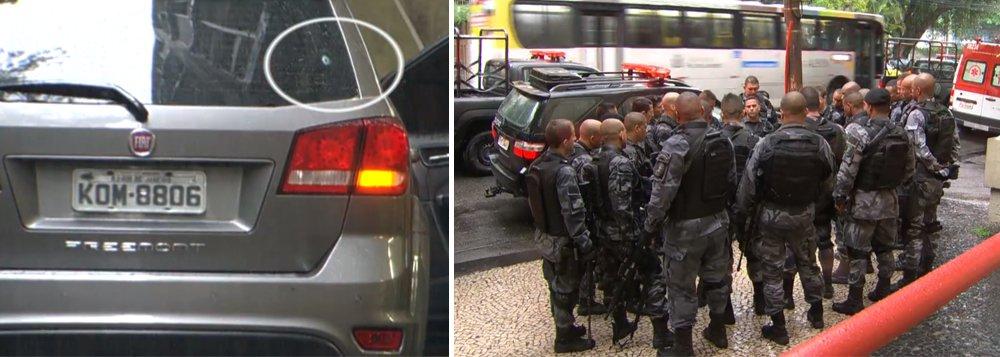 Uma turista espanhola morreu na manhã desta segunda-feira (23) ao ser atingida por tiros disparados por policiais militares na Rocinha, na zona sul do Rio; segundo a Polícia Militar, ela estava em um carro de transporte de turistas que furou um bloqueio policial no Largo do Boiadeiro, por volta das 10h30, e foi, por isso, alvejado pelos agentes;a turista foi identificada como Maria Esperanza Ruiz Jimenez, de 67 anos