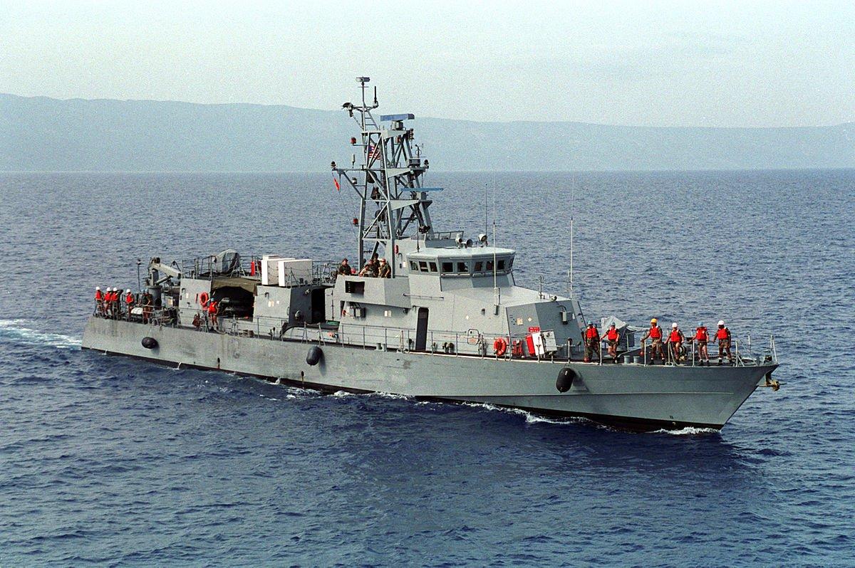 Navio de patrulha costeira dos EUA, USS Tempest, estreito de Ormuz, Irã