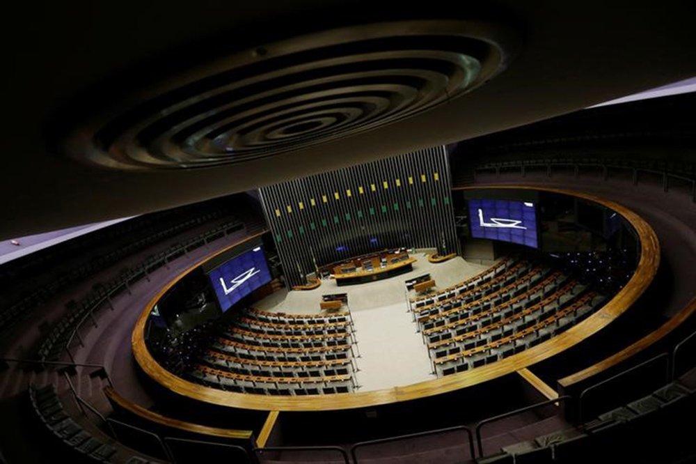 Vista geral do plenário da Câmara dos Deputados após sessão em Brasília, Brasil 12/4/2017 REUTERS/Ueslei Marcelino