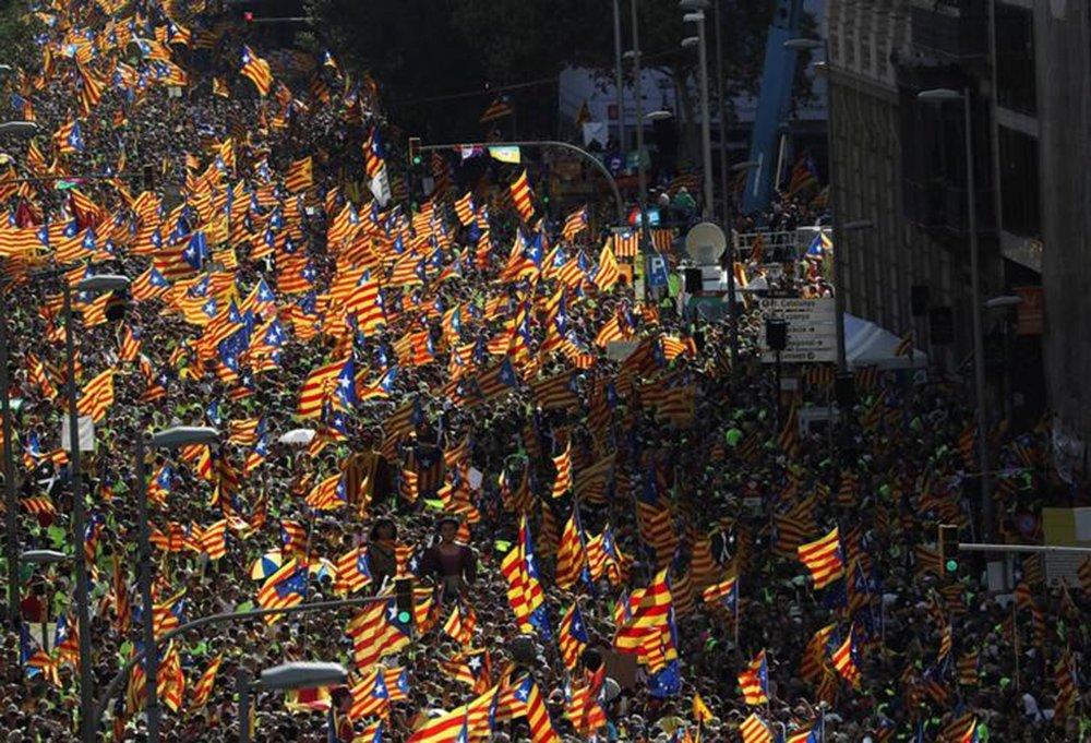 Manifestação em Barcelona em defesa da independência da Catalunha 11/09/2017 REUTERS/Susana Vera