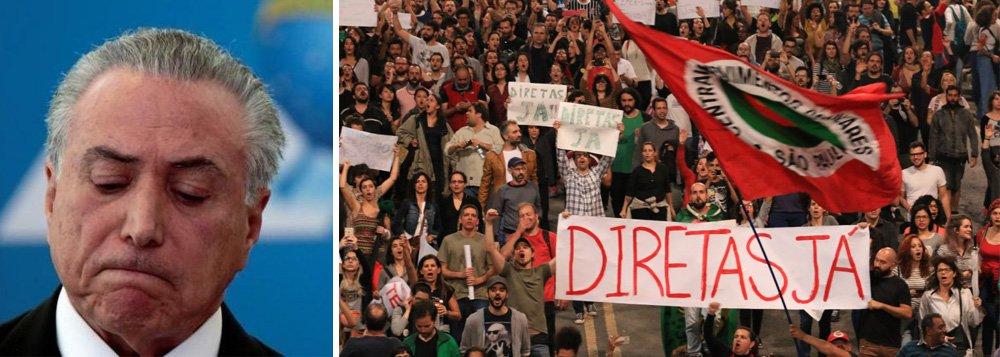 Pesquisa divulgada pelo site Poder360 revela que Michel Temer virou margem de erro: apenas 2% consideram seu governo positivo, enquanto 75% o rejeitam (aumento de 10 pontos percentuais em relação à pesquisa de maio); 79% dos entrevistados desejam a renúncia ou a cassação do peemedebista; em caso de queda de Temer, 87% dos brasileiros querem escolher o próximo presidente; eleições indiretas, ou seja, por meio do Congresso Nacional, é a preferência de apenas 4%